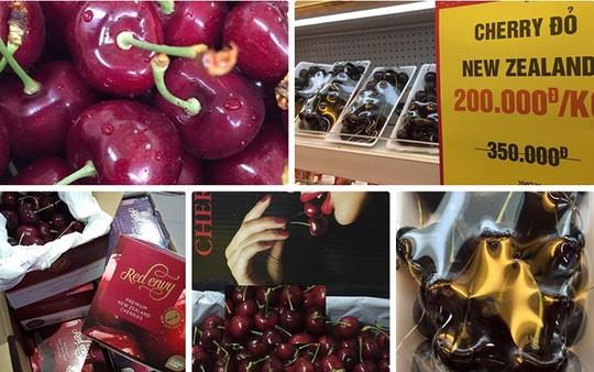 Loạn giá cherry nhập ngoại ngày cận Tết - Ảnh 1.