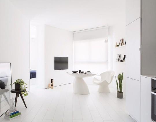 Căn hộ 42m² rộng thênh thang nhờ màu trắng tinh khôi - Ảnh 1.