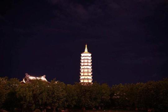 Ngôi chùa lớn nhất Việt Nam đẹp lung linh huyền ảo về đêm - Ảnh 10.