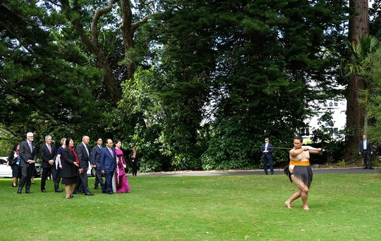 Màn biểu diễn đặc biệt đón Thủ tướng Nguyễn Xuân Phúc ở New Zealand - Ảnh 3.