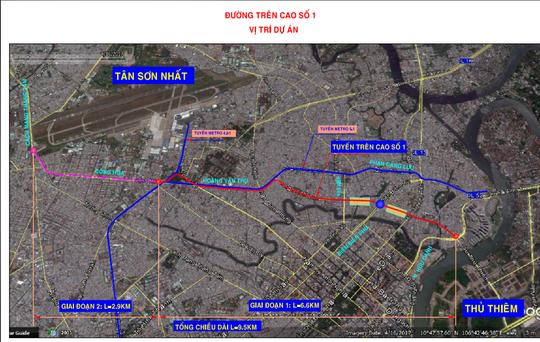 Đề xuất xây dựng đường trên cao nối Tân Sơn Nhất - Ảnh 3.