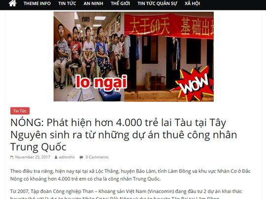Thực hư chuyện 4.000 con lai Trung Quốc ở Tây Nguyên - Ảnh 1.