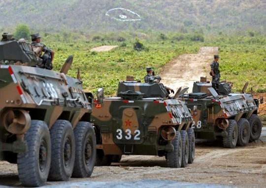 Trung Quốc và Campuchia tập trận chung - Ảnh 1.