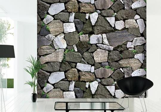 10 mẫu giấy dán tường giả đá 3D chinh phục mọi thị giác - Ảnh 3.