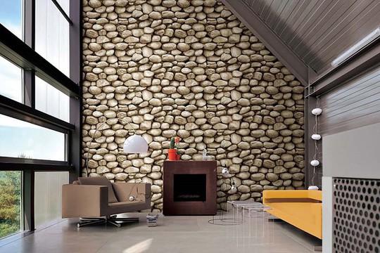 10 mẫu giấy dán tường giả đá 3D chinh phục mọi thị giác - Ảnh 8.