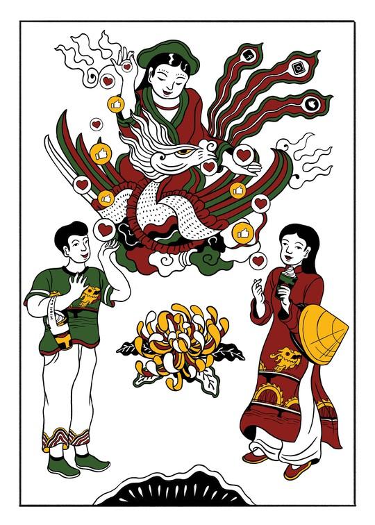 Hiện đại hóa tranh truyền thống - Ảnh 2.