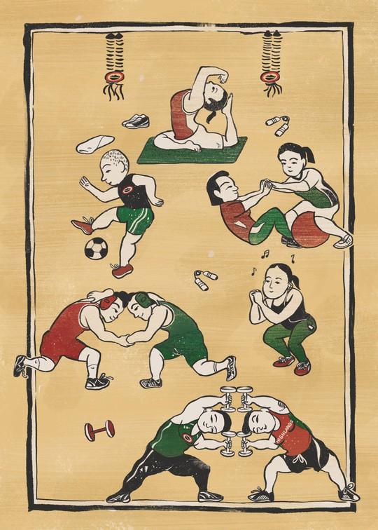 Hiện đại hóa tranh truyền thống - Ảnh 3.