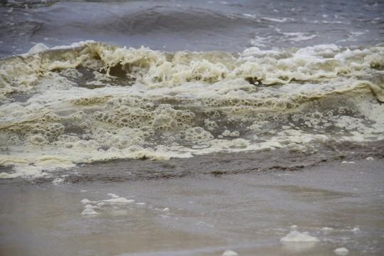 Hơn 3 km biển Đà Nẵng đổi màu sẫm và bốc mùi hôi - Ảnh 2.