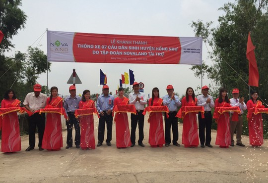 Khánh thành 7 cây cầu dân sinh mới tại Đồng Tháp - Ảnh 1.