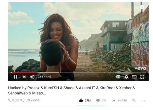 Ca khúc 5 tỷ view Despacito bị hack và xóa khỏi YouTube - Ảnh 1.