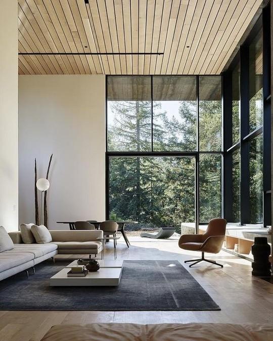 Thiết kế trần gỗ cho ngôi nhà bừng sáng  - Ảnh 1.