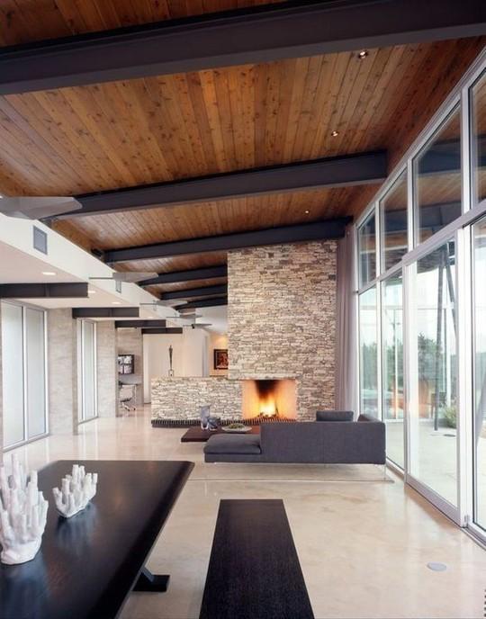 Thiết kế trần gỗ cho ngôi nhà bừng sáng  - Ảnh 4.