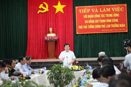 Phó Thủ tướng thị sát vùng sẽ giải tỏa trắng để xây sân bay Long Thành - Ảnh 1.