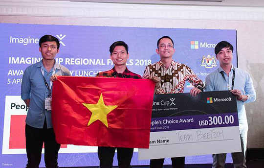 Imagine Cup châu Á 2018: SV Duy Tân giành giải Sản phẩm được bình chọn nhiều nhất