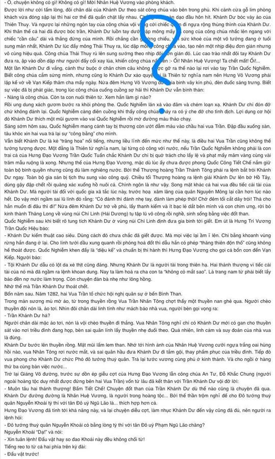 Tiểu thuyết viết về anh hùng thời Trần gây tranh cãi vì có đoạn mô tả tình dục trần trụi 2