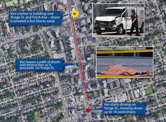 Canada: Xe tải lao vào đám đông, 10 người thiệt mạng - Ảnh 6.