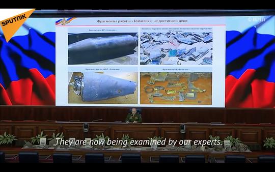 Nga công bố tên lửa Tomahawk thu được sau vụ Mỹ không kích Syria - Ảnh 1.