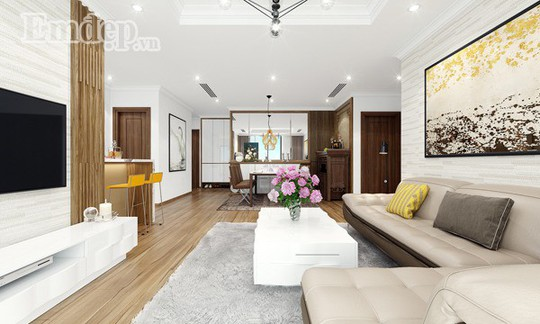 Ngẩn ngơ trước căn hộ thiết kế giản dị mà sang trọng - Ảnh 2.