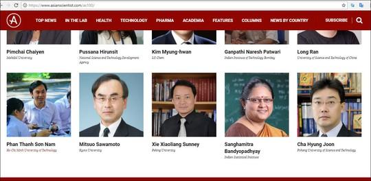 Hai nhà khoa học Việt Nam được vinh danh tốp 100 Châu Á - Ảnh 1.