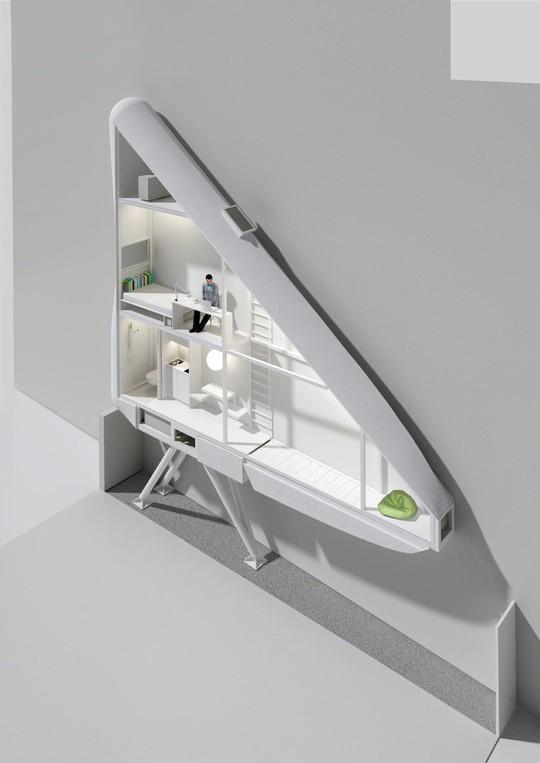 Thiết kế nội thất cực chất ở ngôi nhà hẹp nhất thế giới - Ảnh 3.