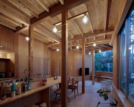 Thích thú ngôi nhà hình nấm bằng gỗ tự nhiên ở Nhật - Ảnh 10.