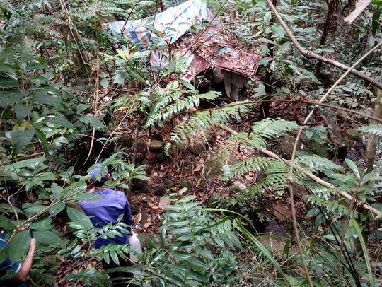 Phát hiện 1 thi thể đang phân hủy giữa rừng - Ảnh 1.