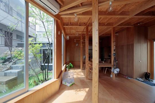 Thích thú ngôi nhà hình nấm bằng gỗ tự nhiên ở Nhật - Ảnh 5.