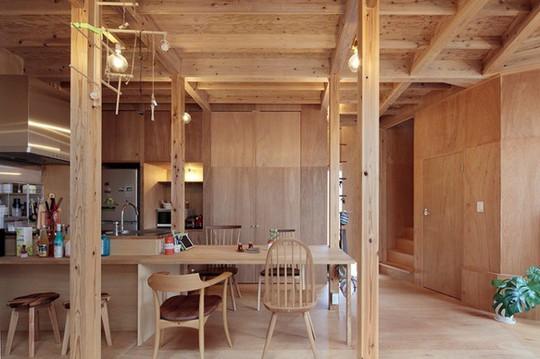 Thích thú ngôi nhà hình nấm bằng gỗ tự nhiên ở Nhật - Ảnh 6.