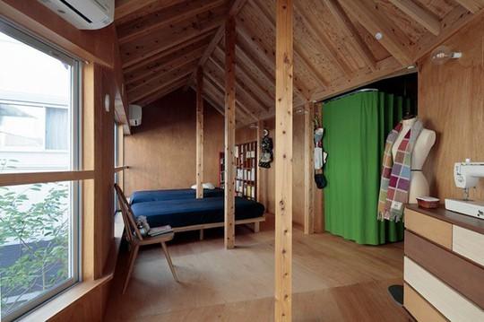 Thích thú ngôi nhà hình nấm bằng gỗ tự nhiên ở Nhật - Ảnh 8.