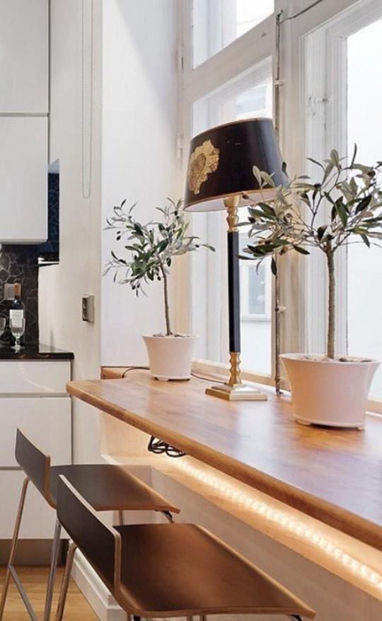 Những góc ăn sáng nhỏ xinh trong căn bếp hẹp - Ảnh 12.