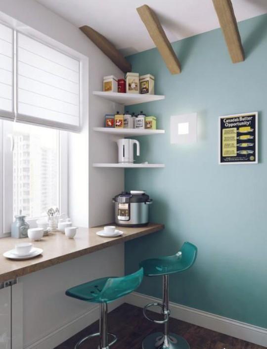 Những góc ăn sáng nhỏ xinh trong căn bếp hẹp - Ảnh 3.