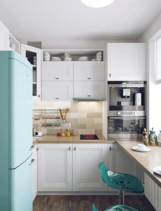 Những góc ăn sáng nhỏ xinh trong căn bếp hẹp - Ảnh 4.