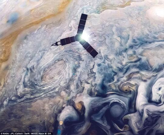 Cận cảnh chuỗi ngọc trai siêu bão trên Sao Mộc - Ảnh 3.