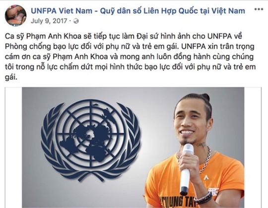 Dính án gạ tình, Phạm Anh Khoa bị Quỹ dân số Liên hợp quốc xóa bỏ vị trí đại sứ - Ảnh 2.