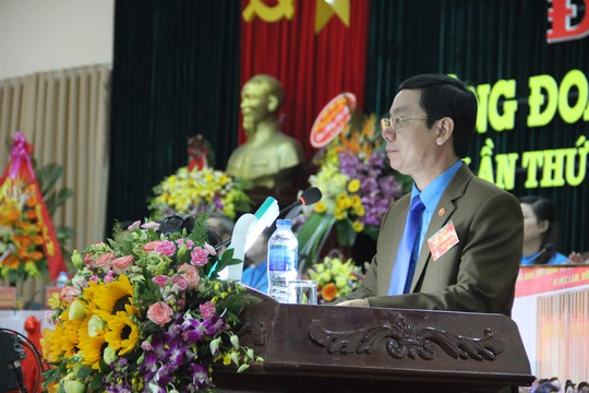 Ông Nguyễn Thế Lập tái cử chức Chủ tịch LĐLĐ tỉnh Quảng Trị - Ảnh 1.