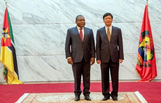 Cận cảnh Đại sứ Việt Nam trình Quốc thư lên Tổng thống Mozambique - Ảnh 3.