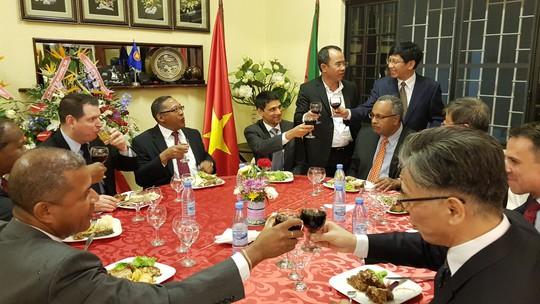 Cận cảnh Đại sứ Việt Nam trình Quốc thư lên Tổng thống Mozambique - Ảnh 9.