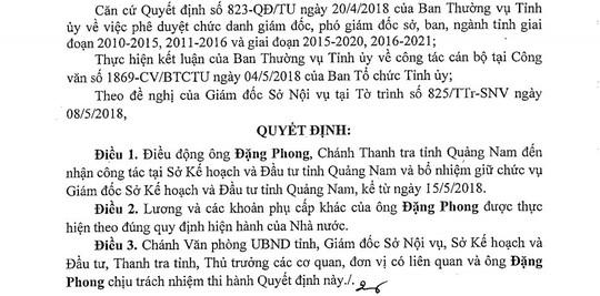 Ông Đặng Phong thay ông Lê Phước Hoài Bảo làm giám đốc sở - Ảnh 2.