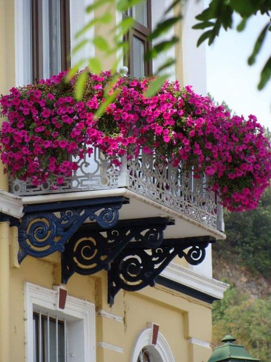 Ban công tràn ngập sắc hè nhờ trang trí với hoa tươi - Ảnh 3.