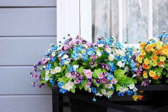 Ban công tràn ngập sắc hè nhờ trang trí với hoa tươi - Ảnh 5.
