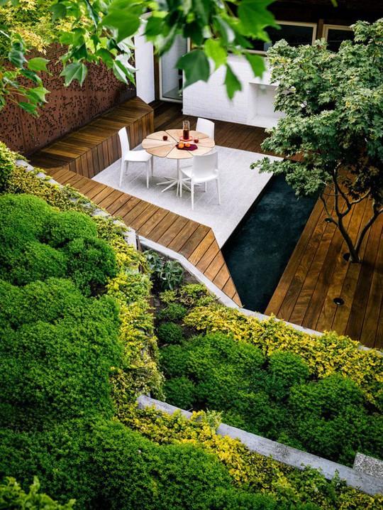 Khu vườn thiết kế kiểu ruộng bậc thang ai thấy cũng mê  - Ảnh 12.