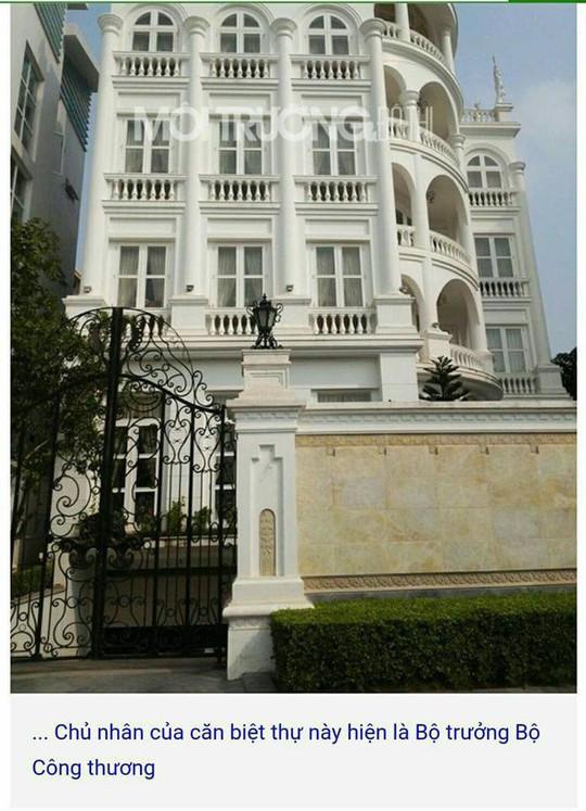 Bộ Công Thương phản hồi về căn biệt thự được cho là của bộ trưởng - Ảnh 1.