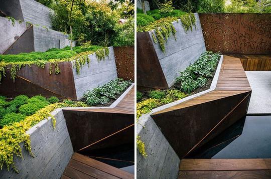 Khu vườn thiết kế kiểu ruộng bậc thang ai thấy cũng mê - Ảnh 6.