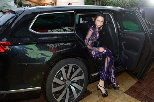 Vũ Ngọc Anh mặc váy mỏng tang ở LHP Cannes - Ảnh 4.