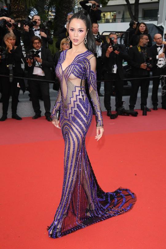 Vũ Ngọc Anh mặc váy mỏng tang ở LHP Cannes - Ảnh 6.