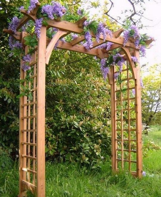 Khu vườn trở nên lãng mạn nhờ cổng vòm rực rỡ sắc hoa - Ảnh 3.