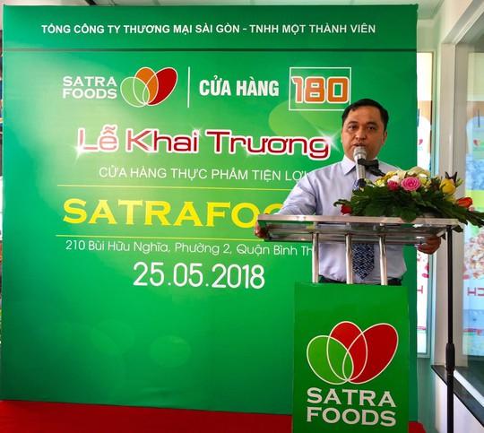 Khai trương cửa hàng Satrafoods kết hợp bán thức ăn nhanh - Ảnh 1.