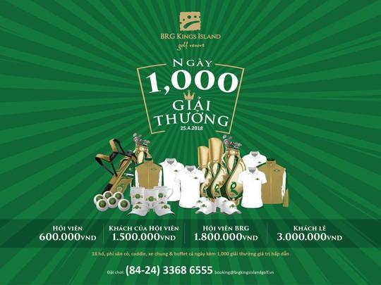 1.000 giải thưởng ngày BRG Kings Island Golf Resort tròn 25 tuổi - Ảnh 1.