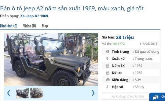 Xe hơi cổ vài chục triệu đồng bán đầy trên chợ mạng - Ảnh 2.