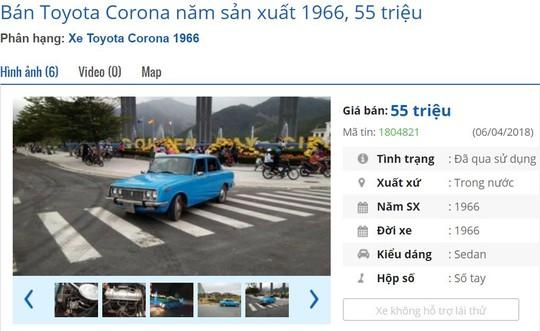Xe hơi cổ vài chục triệu đồng bán đầy trên chợ mạng - Ảnh 3.